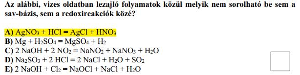 A 3. feladat 8. kérdése, kiemelve a hivatalos megoldás