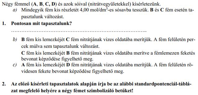 A 4. feladat tördelése nem a legszerencsésebb. Az 1. kérdésnek vannak b), c) alkérdései, vagy az a) kérdésnek egy 1. pontja?
